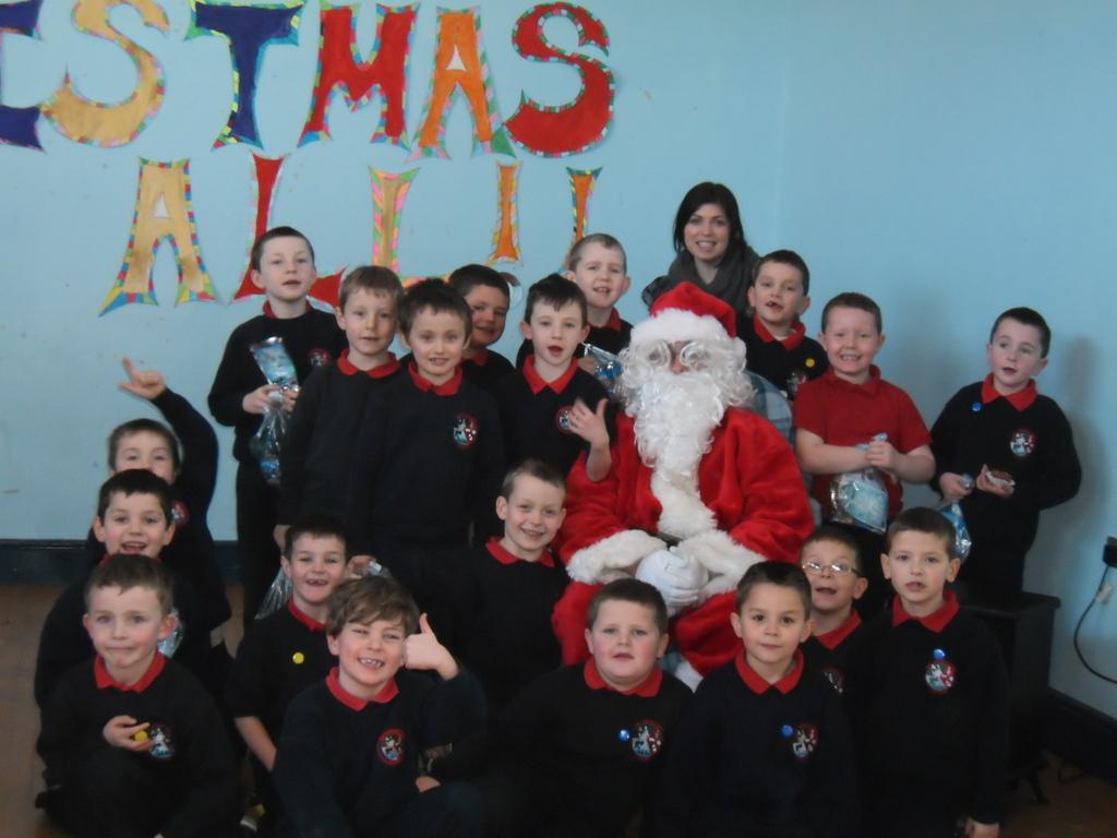Santa Visits St. Francis N.S.