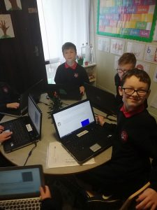 4th Class Enjoying Coding!!