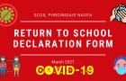 Return to School Declaration Form March 2021