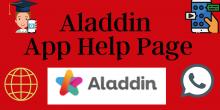 Aladdin App Help Page