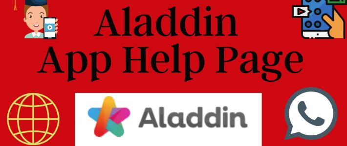 Aladdin App Help