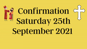 Confirmation Update – New date of Saturday 25th September 2021