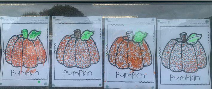 Autumn Art from Junior Infants